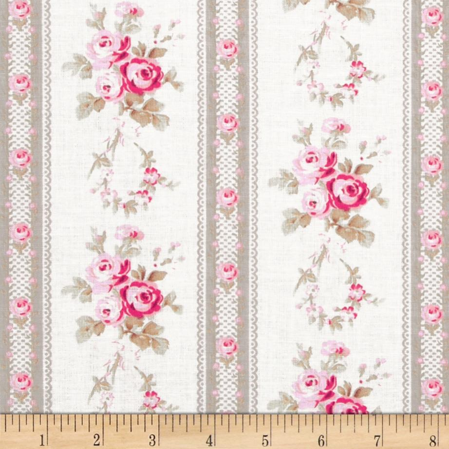 Petal Antique Ticking Rose Ivory