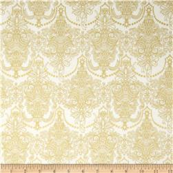 Holiday Flourish Metallic Damask Snow Antique Cream