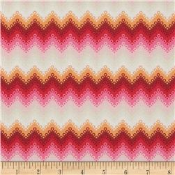 Tula Pink Fox Field Pointed Lace Sunrise Fabric