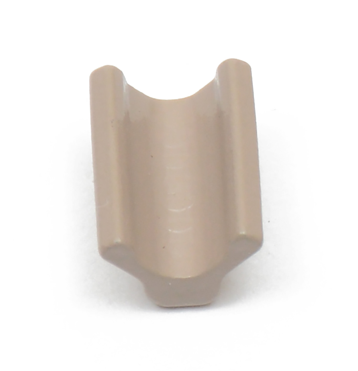 #10 YKK Vislon Top Stops - Beige top stops to be used with #10 beige Vislon zipper chain. This product is sold as a 100 pack.