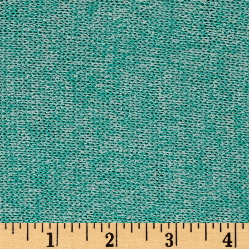 Lightweight Marled Sweater Knit Seafoam Fabric