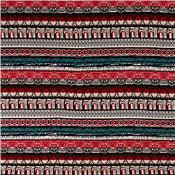 Aztec Hatchi Sweater Knit Red/Aqua/Black