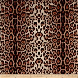 Scuba Knit Animal Skin Brown