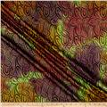 Indian Batik Montego Bay Gold Circles Green/Wine