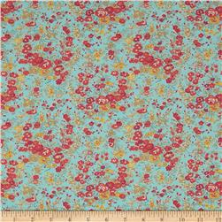 Liberty of London Classic Tana Lawn Wild Flowers Tatum Light Blue/Pink