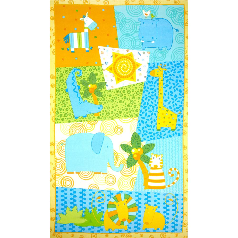 Jungle Buddies Flannel Panel Multi