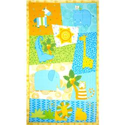 Jungle Buddies Flannel Panel Multi Fabric