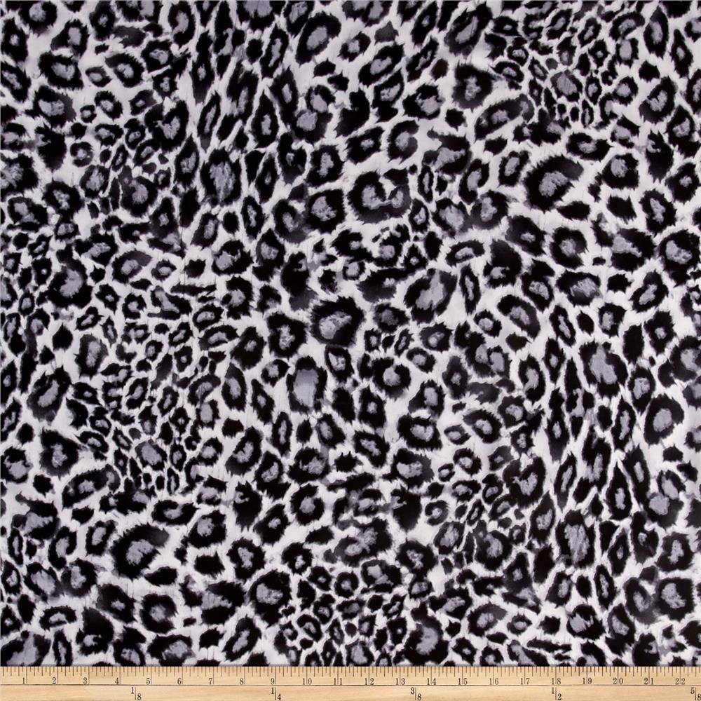 Chiffon Animal Cheetah Black/Gray