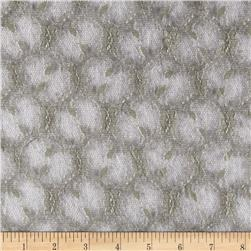 Designer Stretch Lace Floral Light Grey