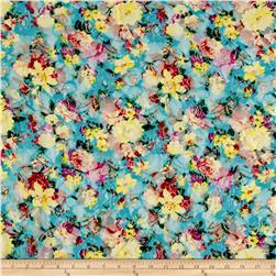 Stretch Floral Lace Cheery Multi