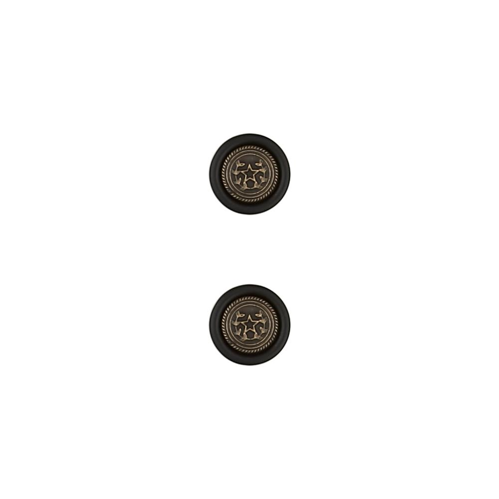 Dill Metal Button 3/4'' Star Black