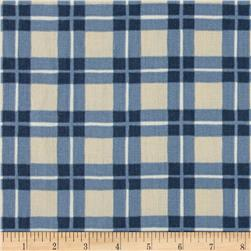 Ansley Home Decor Cotton Duck Plaid Blue/Cream