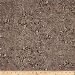 Antoinette Paisley Brown/Ivory Fabric