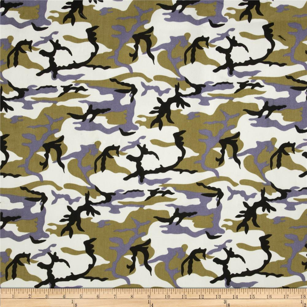 Textile Creations Camouflage Twill Brown/Black/Khaki