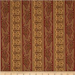 Moda Collections for a Cause Mill Book 1892 Border Stripe Red