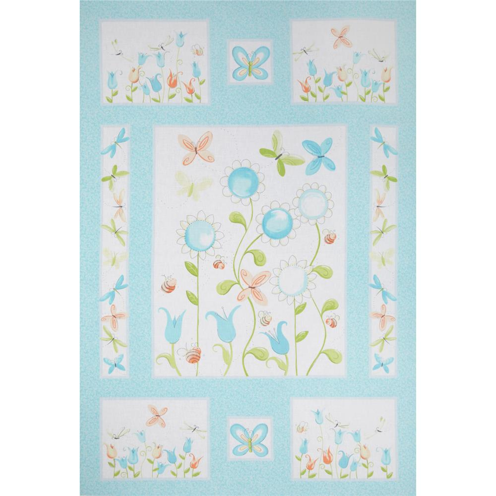 Susy Sunflower Panel Blue