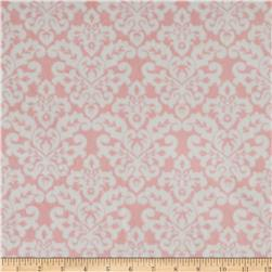 Minky Cuddle Classic Damask Blush/White Fabric
