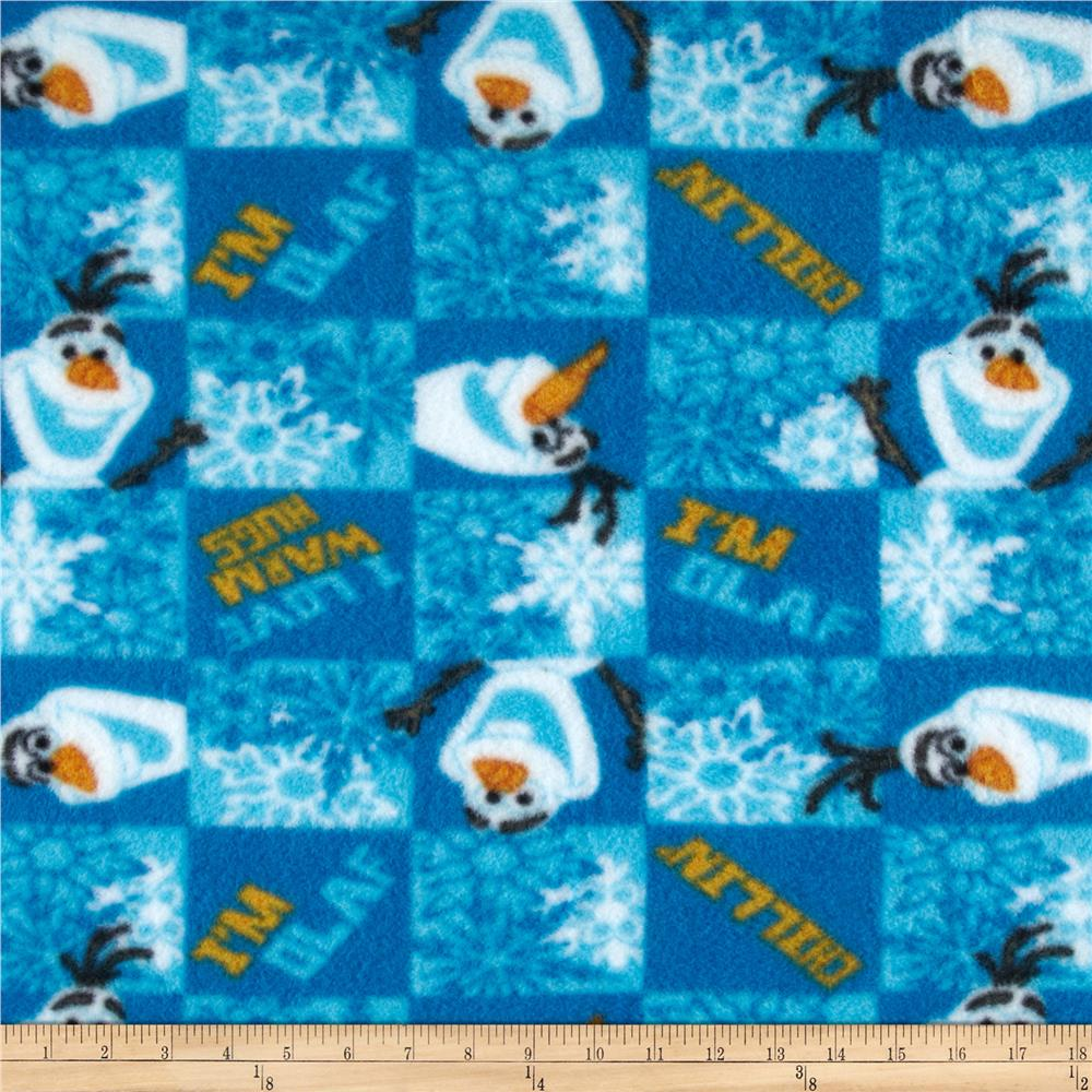Disney Frozen Fleece Olaf I Love Warm Hugs Blue