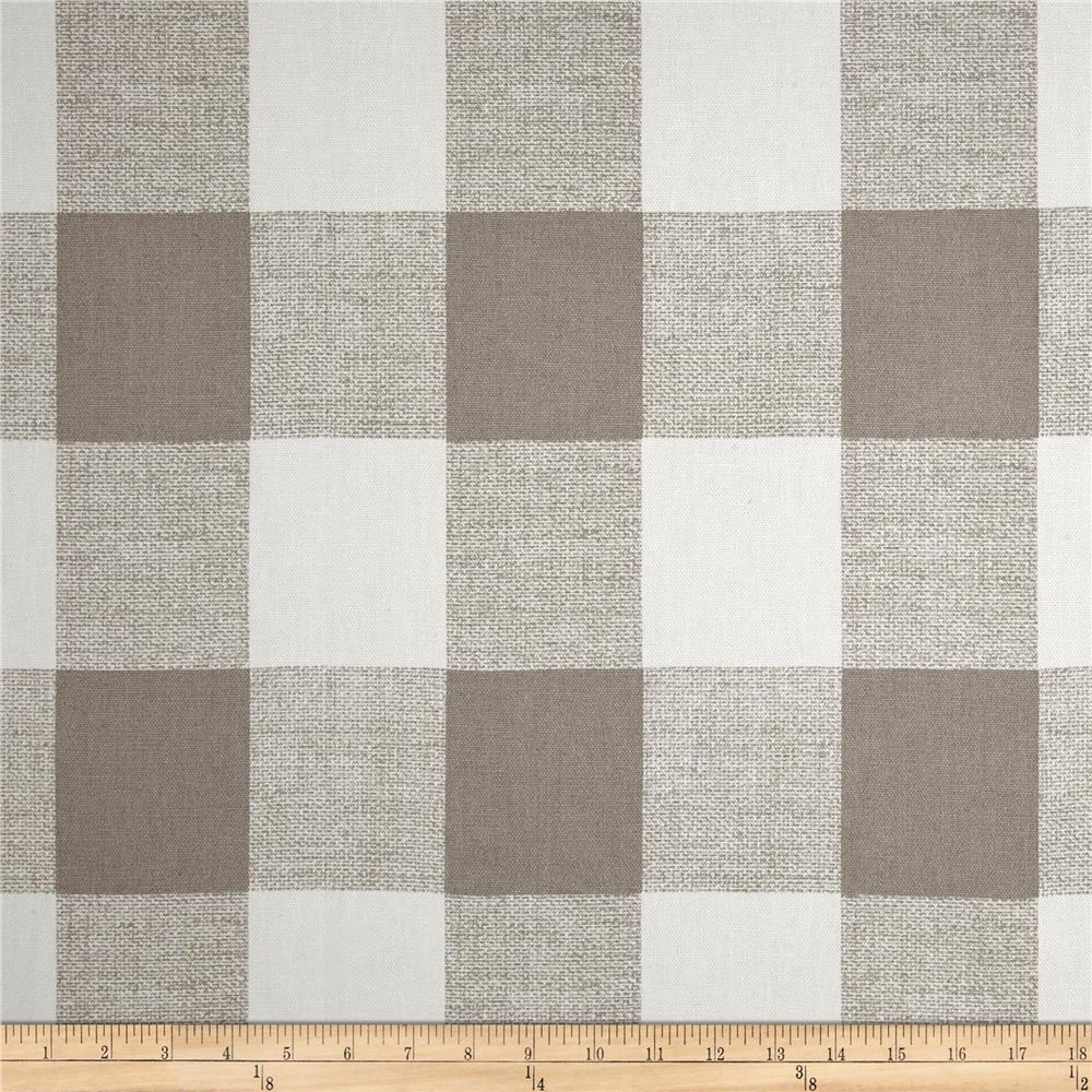 Here s just a sample of the buffalo check fabric options from fabric - Zoom Premier Prints Anderson Check French Grey