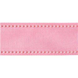 1 1/2'' Grosgrain Ribbon Saddle Stitch Pink/Rose
