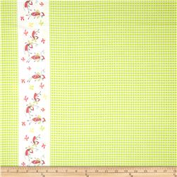 Riley Blake Butterfly Dance Double-Border Green Fabric