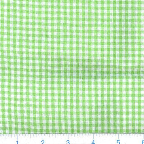 Kaufman 1/8'' Carolina Gingham Lime