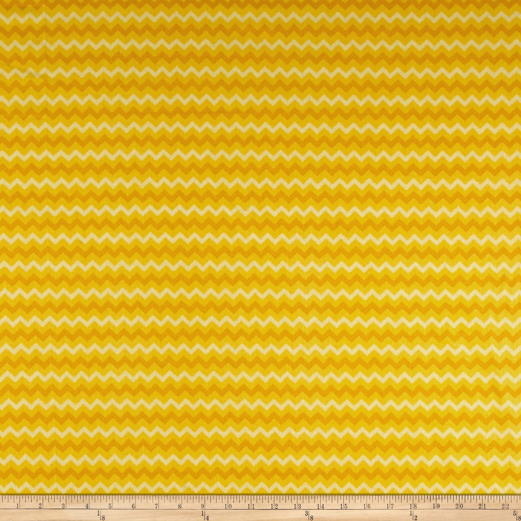 Springs Creative Tonal Chevron Golden Yellow Fabric