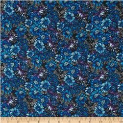 Chiffon Floral Blue/Purple