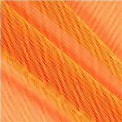 Spandex Stretch Illusion Shaper Mesh Neon Orange