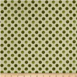 Romantic Afternoon Flannel Dots Green
