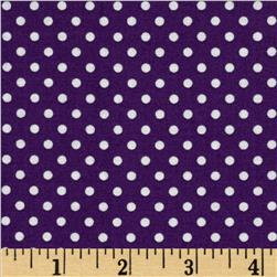 Moda Dottie Small Dots Purple Fabric