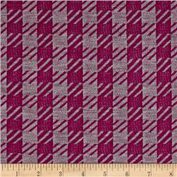 Rihan Jersey Knit Houndstooth Purple