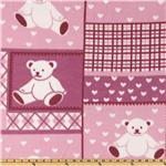 Cozy Fleece Teddy Bear Pink