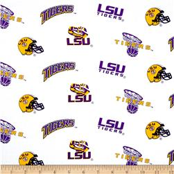 Collegiate Cotton Broadcloth Louisiana State University White