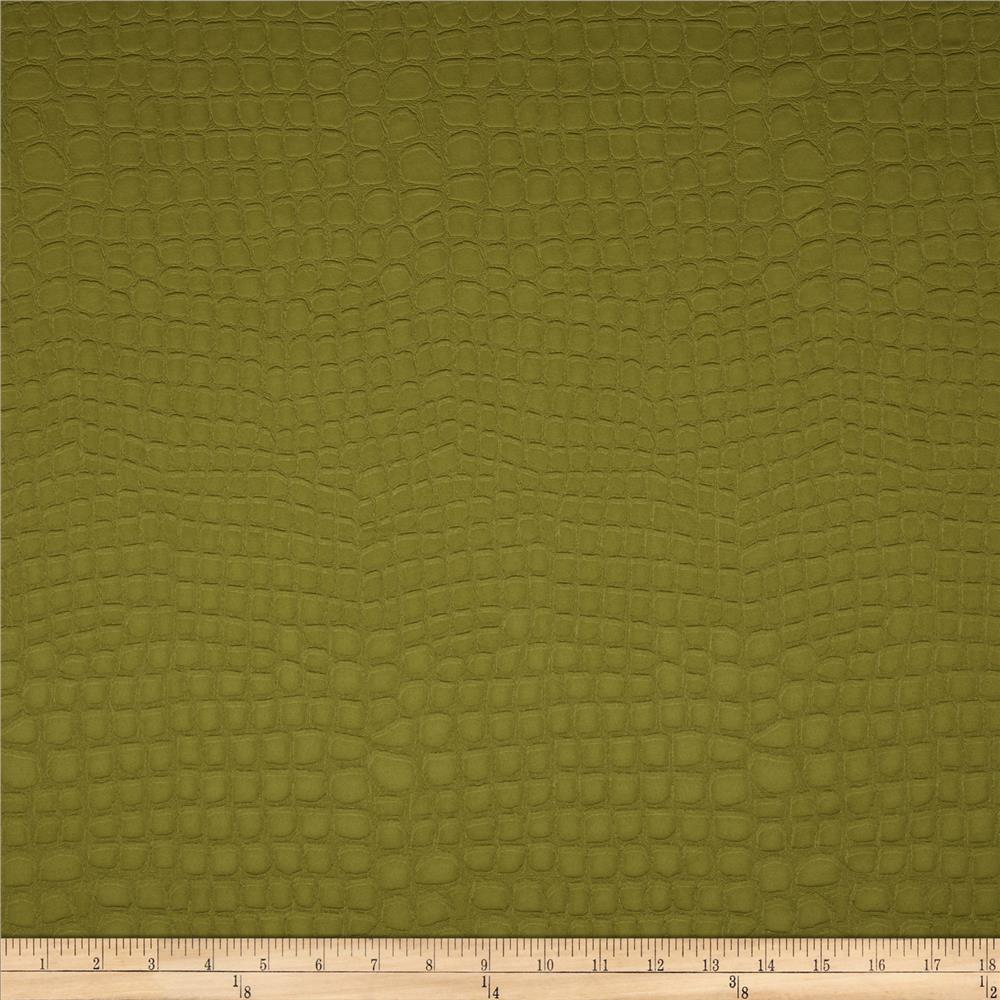 Golding Crocodile Flannel Back Satin Peridot