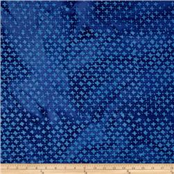Indian Batik Hollow Ridge Dots Blue