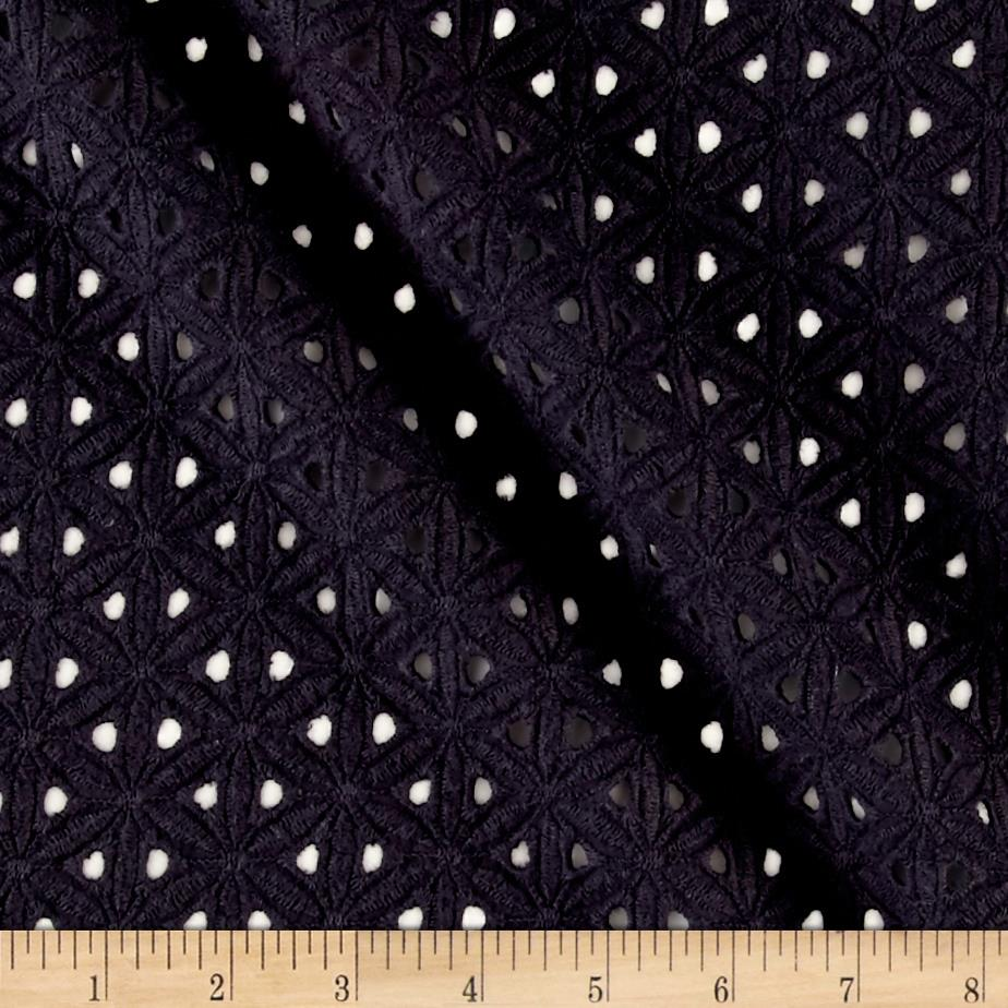 Cotton Sand Dollar Eyelet Black