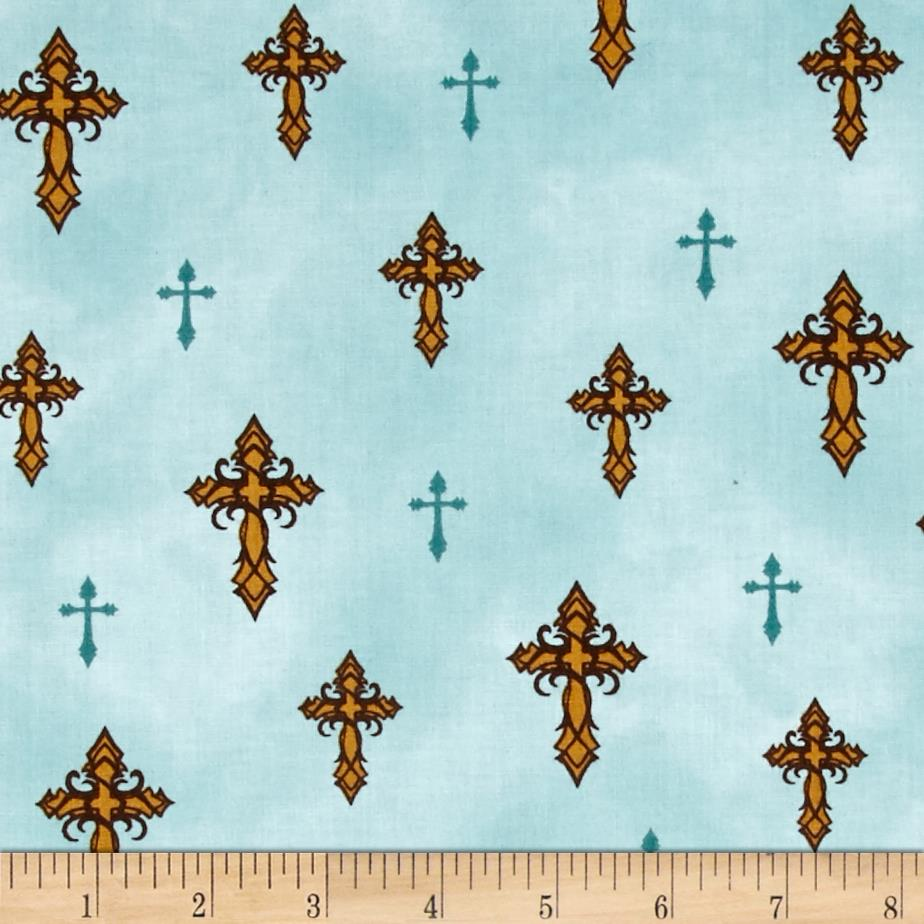 Amazing Grace Crosses Teal