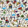 Timeless Treasures Home Sweet Home Map Multi