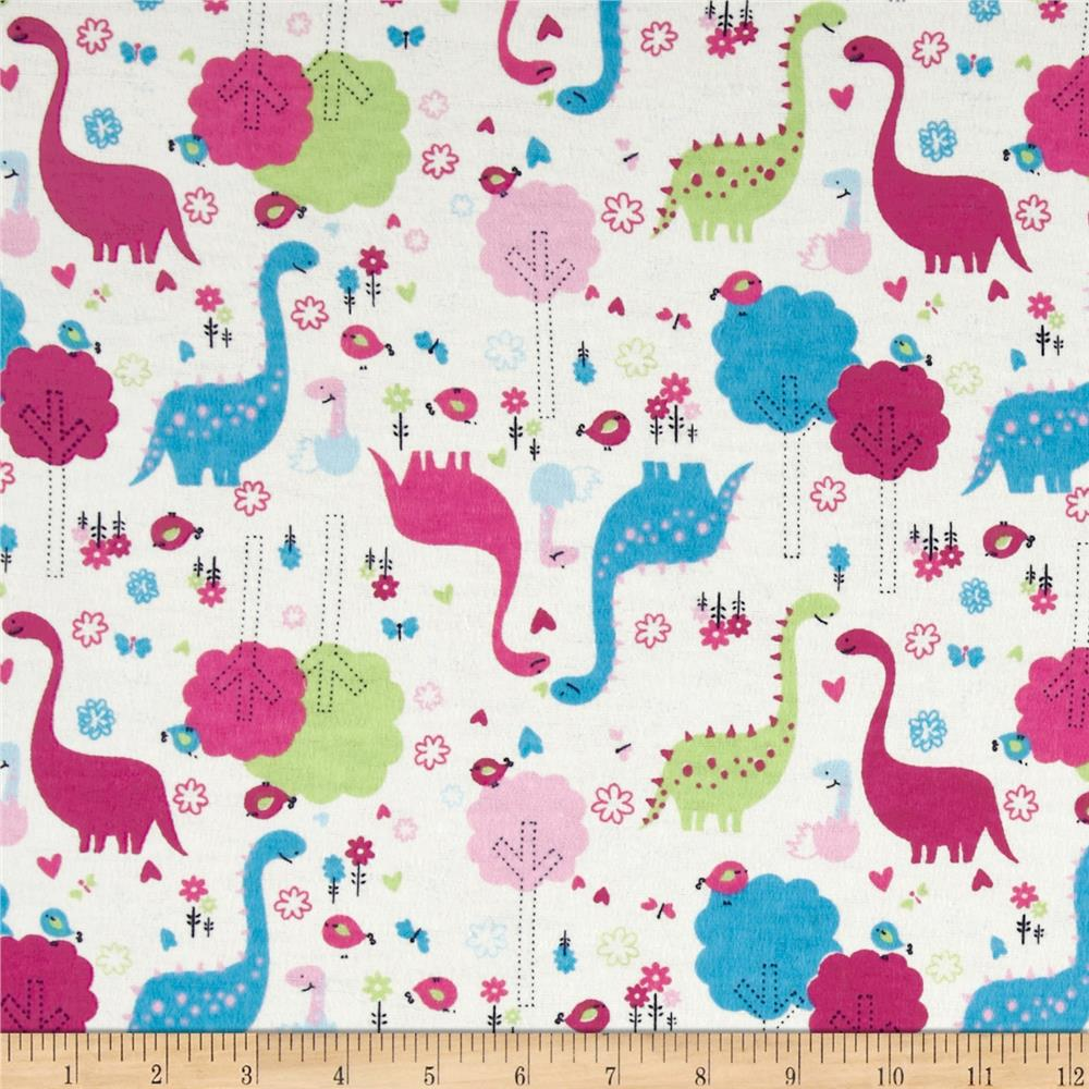 Flannel Dinosaurs Ivory
