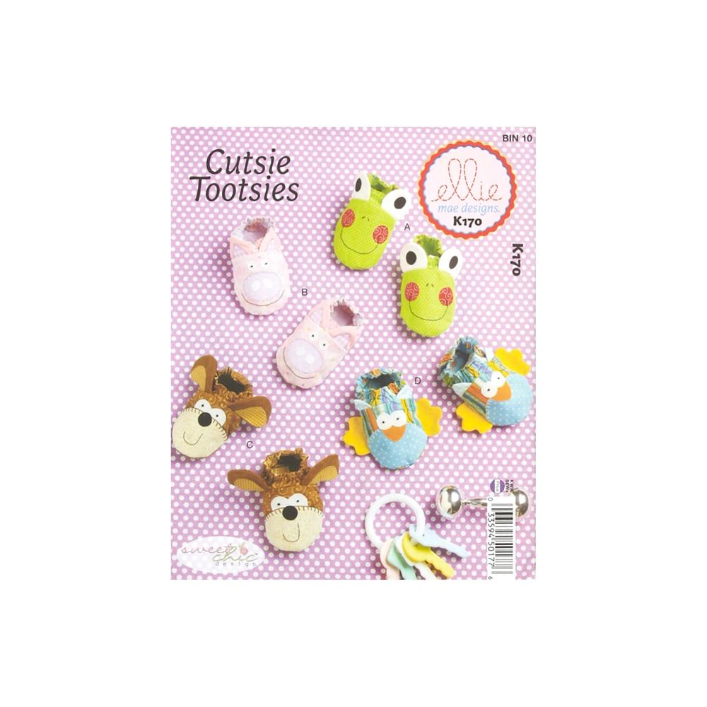Ellie Mae Designs Sweet Chic Cutsie Tootsies Baby Booties Pattern
