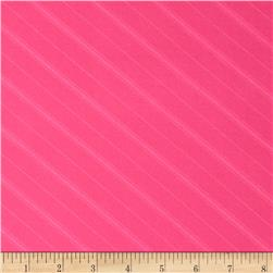Stretch ITY Jersey Knit Shadow Stripe Fuchsia