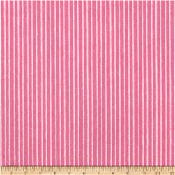 Aunt Polly's Flannel Pin Stripe Pink/White