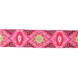 "2"" Amy Butler Brocade Ribbon Pink/Burgundy"