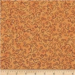 Flower Fantasy Scroll Orange