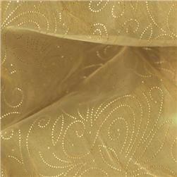 56'' Sheer Organza Constellation Golden