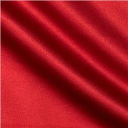 Stretch Cotton Blend Sateen Red