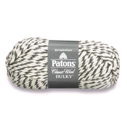 Patons Classic Wool Bulky Yarn (89046) Dark Grey Ragg