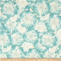 Robert Kaufman Imperial Collection Metallic Abstract Flowers Spring