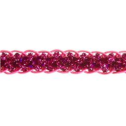 1/2'' Sequin Braid Cord Trim Fuchsia